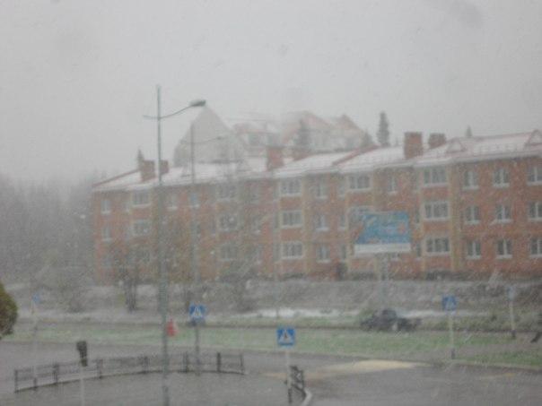 В Перми выпал первый снег